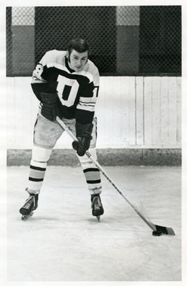 Photograph of Dan Sangster of the Dalhousie University hockey team