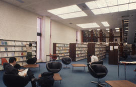 Photograph of the interior of the Kellogg Library