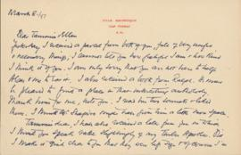 Letter from William Somerset Maugham to Ellen Ballon and Sally Ryan