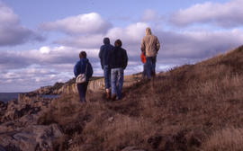 Photograph of researchers at Brier Island, Nova Scotia