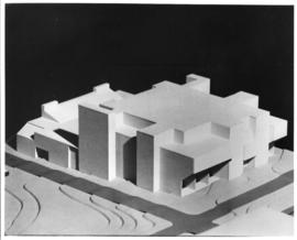 Photograph of a preliminary model of the proposed Dental Building