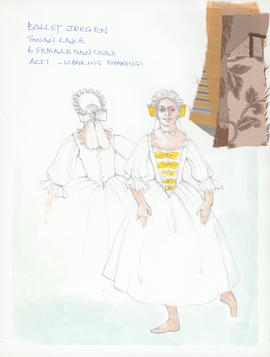 Costume design for Female Dancers : Act 1