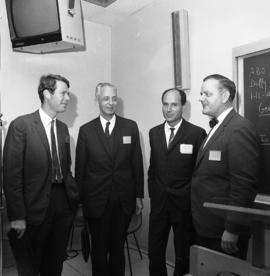 Photograph of Dr. J. R. Batchelor, Dr. Jean Dausset, Dr. Pavol Ivanyi, and Dr. John B. Dossetor