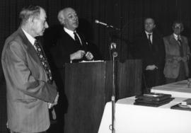 Photograph of Henry Pelham and Henry D. Hicks : Dalhousie Award presentation