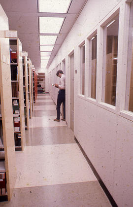Photograph of the W.K. Kellogg Health Science Library hallway