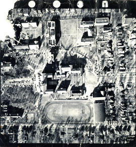 Aerial photograph of Studley Campus at Dalhousie University
