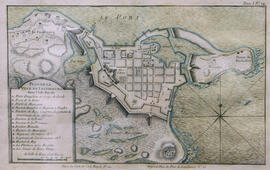 Plan de la Ville de Louisbourg dans l'Isle Royale by J.N. Bellin ; Vol. 1, No. 22