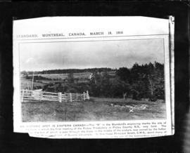 Photograph of a news clipping of a Landscape photograph