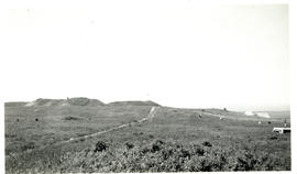 Photograph of Fort Beausejour observed from a pavilion