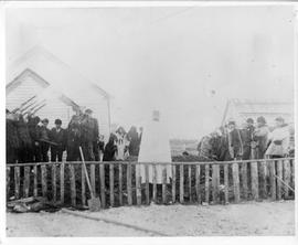 Photograph of the funeral of Inspector Francis J. Fitzgerald and his party