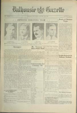 Dalhousie Gazette, Volume 58, Issue 9
