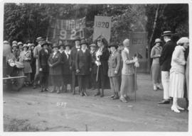 Photograph of members of the classes of 1920 and 1921 at a Dalhousie alumni procession