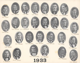 Composite Photograph of the Faculty of Medicine - Class of 1933