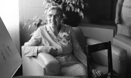 Photograph of Mrs. Dorothy Cooke's retirement party