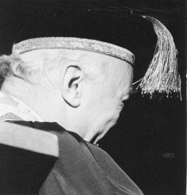 Photograph of Henry Hicks in academic dress