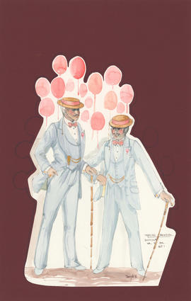 Costume design for Dupont Sr. and Jr. : Act I