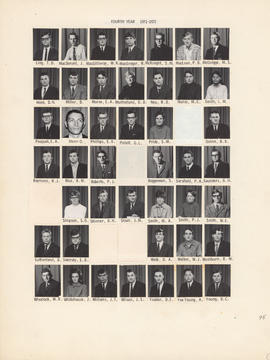 Composite photograph of the Faculty of Medicine - Fourth Year Class, 1971-1972 (Ling to Young)