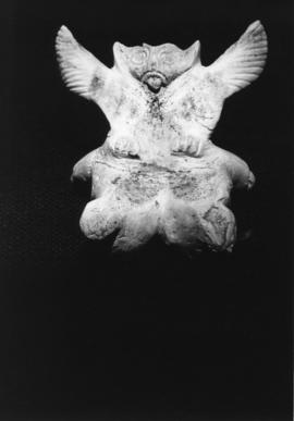 Photograph of a statue from Eskimo exhibit