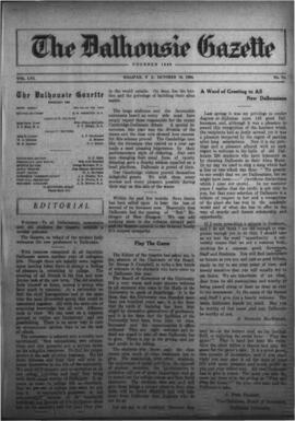 The Dalhousie Gazette, Volume 56, Issue 11 (Oct 15, 1924)