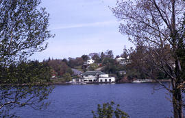 Photograph of houses on the water from the opposite shore