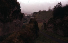 Photograph of the Trier Amphitheater looking in
