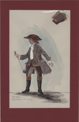 Costume design for Bob Acres : first costume