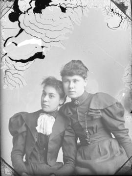 Photograph of Hattie Roy and friend