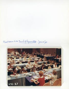 Photograph of closed session of the International Council of Nurses council representatives in Mo...