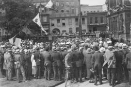 Photograph of alumni assembled on the Grand Parade
