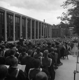 Photograph of the Dalhousie medical centennial convocation ceremony