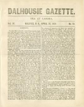 Dalhousie Gazette, Volume 4, Issue 10