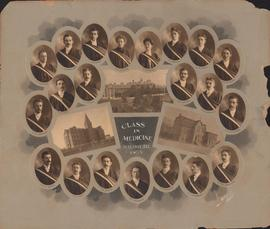 Photographic collage of the Dalhousie University class in medicine of 1903