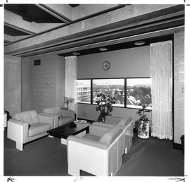 Photograph of a lounge in the Killam Memorial Library