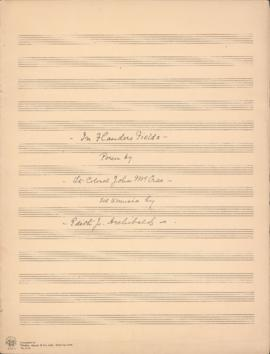 In Flanders Fields : [manuscript vocal score]