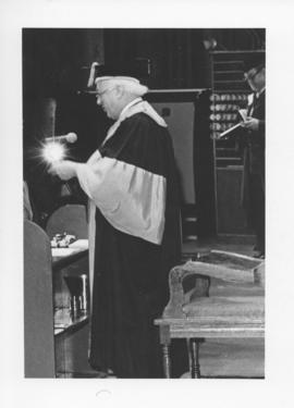 Photograph of Henry Hicks at a convocation ceremony