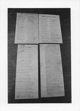 Photograph of manuscripts bought by the Killam Library