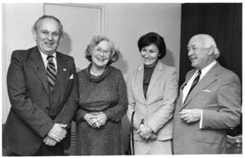 Photograph of Dr. and Mrs. Henry Hicks with Mr. and Mrs. Mitko Calovski