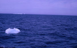 Photograph of a small iceberg near Newfoundland and Labrador