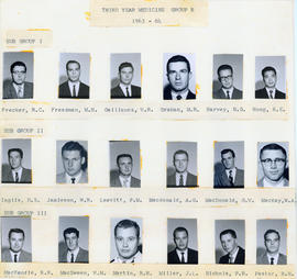 Photograph of Third Year Medical Students Group B : Class of 1963-1964