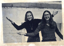 Photograph of Catherine Thorpe and Elizabeth Goluch