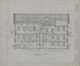 Technical drawing of a longitudinal section of an arts building for Dalhousie University