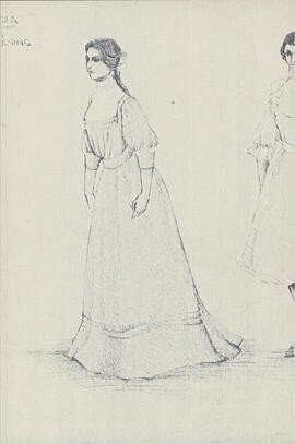 Photocopy of costume design for Wendla