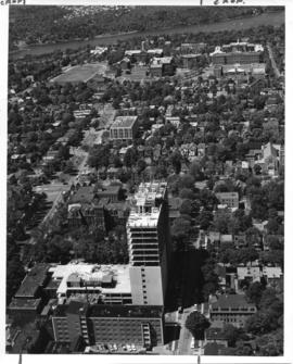 Aerial photograph from the Sir Charles Tupper Medical Building construction