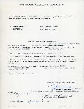 Correspondence between Thomas Head Raddall and the Canadian Broadcasting Corporation