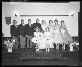Photograph of Mr. & Mrs. Leil and their wedding party