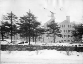 Photograph of Shirreff Hall during construction