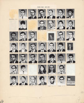 Composite photograph of the Faculty of Medicine - Third Year Class, 1971-1972 (MacLennan to Zitner)