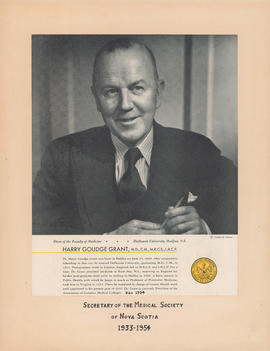 Portrait and biography of Harry Goudge Grant [1889-1954]