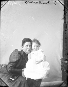 Photograph of Mrs. Jennison, W. F. and her child