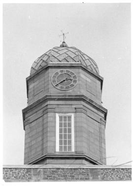 Photograph of the Henry Hicks Arts & Administration Building clock tower